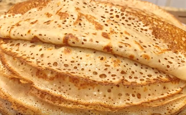 Рецепт кружевных блинчиков на молоке с пошагово