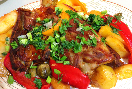 рецепты блюд из картофеля с курицей в духовке #4