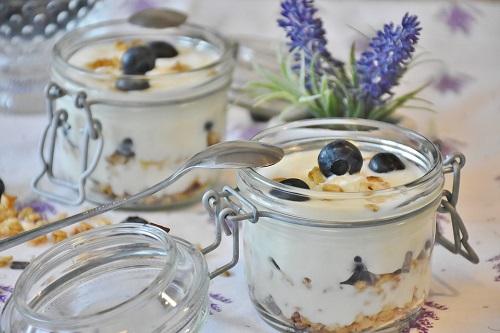 десерт с черникой