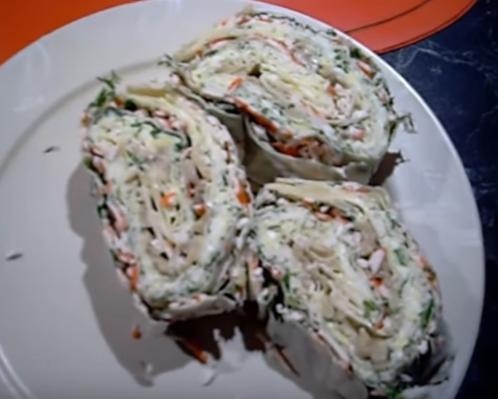 Рулет из лаваша — рецепт