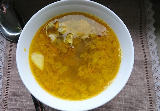 суп из куриных пупков