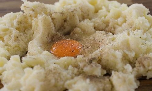 пюре с яйцом для приготовления клецок