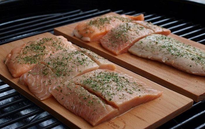 куски филе лосося