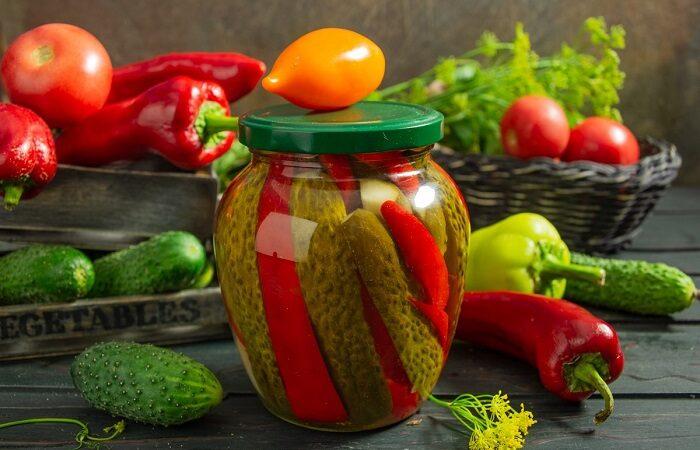 Маринованные огурцы с болгарским перцем – вкусная заготовка на зиму